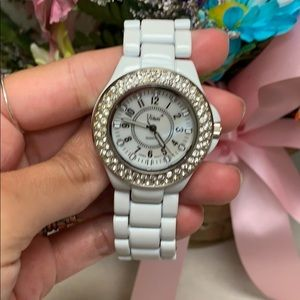 Jewelry - White Vivani watch with a little bit of bling